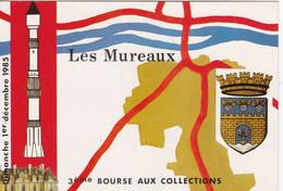 Carte Postale: 3ème Bourse Aux Collections LES MUREAUX 1985 - Esposizioni