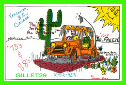 CARTE QSL - Dr FREEZE XM12-9271 - VANCOUVER, BC - BY POWDER PUFF - - Radio Amatoriale