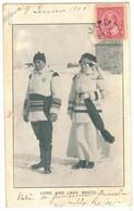 CANADA RARE CPA DE LORD AND LADY MINTO GOUVERNEUR GENERAL QUEBEC MARIA - Circulé MARIA En 1905 VERS MARSEILLE DESCRIPTIF - Otros