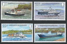 Guernsey 1981 MNH No Gum, Inter Island Transport, Ships, Hovercrafts - Barche