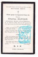 DP Charles Dufour ° 1858 † Strud Haltinne Gesves 1913 / Imp Andenne - Santini