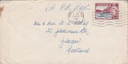 GB JAMAIQUE EUL SUR LETTRE POUR L'ECOSSE 1961 - Jamaica (...-1961)