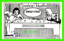 CARTE QSL - SCARBORO HUSTLER, XM42-17312 - WEST HILL. ONTARIO - CANADIAN PINK PANTHER QSL CLUB No 7 - - Radio Amatoriale
