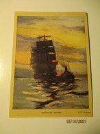 OUTWARD BOUND , SAILING BOAT , R.H. ANDERSON, PRINT ON CARDBOARD  ,0 - Autres