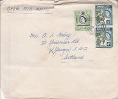 GB JAMAIQUE AFFRANCHISSEMENT COMPOSE SUR LETTRE POUR L'ECOSSE 1963 - Jamaica (...-1961)