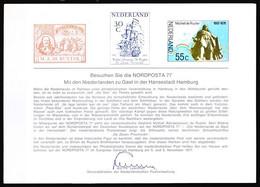 Netherlands 1977 Souvenir Card Nordposta 1977, Ships - Barche