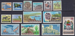 TANZANIA 1965, SG# 128-141, CV £25, Animals, Fish, MH - Tanzania (1964-...)