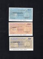 Italia - Miniassegno Banca Popolare Di Milano - Lit. 50 - 100 - 150 - Milano 1977 - Non Classificati