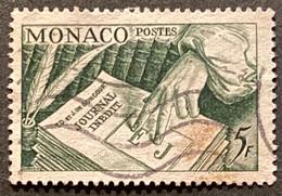 MCO0392U -  The Journal Inédit - 5 F Used Stamp - Monaco - 1953 - Gebruikt