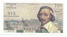 10 Nouveaux Francs (NF) 3-12-1959  Déesse Richelieu état Ttb+++ - 10 NF 1959-1963 ''Richelieu''