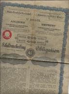 SOCIETE DES CHEMINS DE FER DE L'ETAT AUTRICHIEN - HONGROIS - OBLIGATION DE 500 FRS  - ANNEE 1901 - Ferrovie & Tranvie