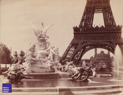 Jules Hautecoeur Grande Photographie Exposition Universelle Paris 1889 Tour Eiffel Trocadéro Fontaine Tower MF3 - Oud (voor 1900)