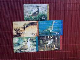 Birds 5 Phoencards Used Rare - Altri