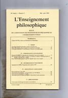 Revue L'Enseignement Philosophique Mai-Juin 1998 - Psicologia/Filosofia