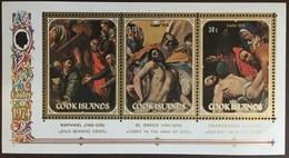 Cook Islands 1974 Easter Paintings Minisheet MNH - Cookeilanden