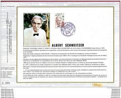 (Réf : B 231) DOCUMENT PHILATÉLIQUE ALBERT SCHWEITZER - Medicina
