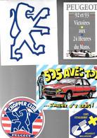 5-AUTOCOLLANTS-Vers 1975-AUTOMOBILE-THEME-PEUGEOT--TBE-RARE - Adesivi