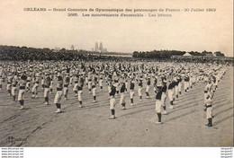 D45  ORLÉANS  Grand Concours De Gymnastique Des Patronages De France Les Mouvements D'Ensemble Les Bâtons - Orleans