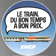 AUTOCOLLANTS-Vers 1975-TRAIN CORAIL-SNCF-12,5Cm Diametre-TBE-RARE - Adesivi