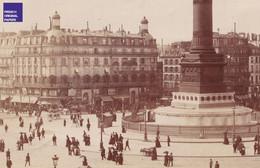 Place De La Bastille Grande Photographie Paris Circa 1890 Monument Révolution 1830 Voiture Attelage Diligence X Phot MF3 - Oud (voor 1900)