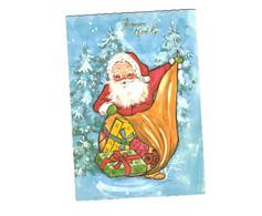 Thème - Voeux - Père Noël Et Son Sac De Cadeaux - Santa Claus