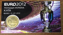 UKRAINE POLAND EURO FOOTBALL AVEC ENCART MDP 2012 MÉDAILLE MONNAIE DE PARIS JETON TOURISTIQUE MEDALS COINS TOKENS - 2012