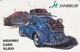 Carte JAPON - VOITURE VOLKSWAGEN COCCINELLE - BEETLE CAR JAPAN Highway Card - KÄFER AUTO / Germany 3515 - Automobili