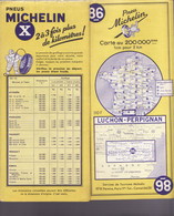 CARTE MICHELIN N°86 LUCHON PERPIGNAN 1958 - Carte Stradali