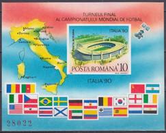 1990 Romania 4602/B262b 1990 FIFA World Cup In Italy 15,00 € - 1990 – Italia