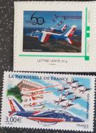2 Timbres Non Oblitérés Différents De La Patrouille De France. Neuf** - Aerei