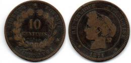 10 Centimes 1871 K Cérès B - D. 10 Centimes
