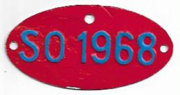 Velonummer Solothurn SO 68, Veloanhänger Rarität ! - Kennzeichen & Nummernschilder