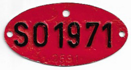 Velonummer Solothurn SO 71, Veloanhänger Rarität ! - Kennzeichen & Nummernschilder