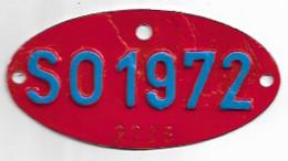 Velonummer Solothurn SO 72, Veloanhänger Rarität ! - Kennzeichen & Nummernschilder