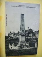24 5509 INCONNU SUR DELCAMPE. CPA 1928 - 24 MONTCARET. MONUMENT DES COMBATTANTS DE LA GRANDE GUERRE 1914-1918. - Oorlogsmonumenten