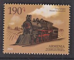 65.- ARMENIA 2021 Means Of Transport - Steam Locomotive - Treni