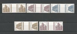 Ireland 1985-86 Definitives Gutterpairs Y.T. 571/573+594/595 ** - Nuovi