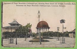Lourenço Marques - Panorama Da Praça Mousinho D'Albuquerque - Moçambique (postal Cortado) - Mozambique