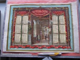 Calendrier 1881 LITHO APPEL 12 Rue Du Delta Drukker Imprimeur Kalender AU VIEUX CHENE, LILLE France  48cmX30cm PUB - Formato Grande : ...-1900