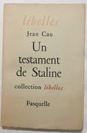 Un Testament De Staline - Storia