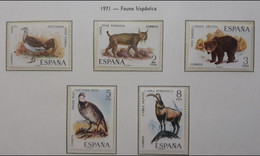 ESPAÑA 1971 Fauna Hispánica. MNH - 1971-80 Nuovi
