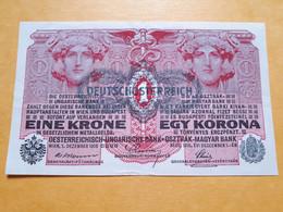 AUTRICHE 1 KRONE 1/12/1916 AUSTRO-HONGROIS - Austria