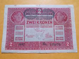 AUTRICHE 2 KRONEN 1917 DEUTSCHE AUSTRO-HONGROIS - Austria
