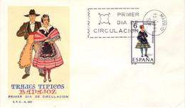 [E0041] España 1967, FDC Trajes Típicos: Badajoz (NS) - FDC