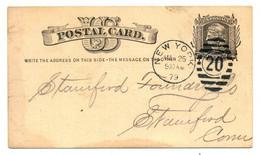 USA Postal Card, New York 1879 - Nach Stamford, Connecticut - ...-1900