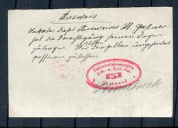 """""""Sicherheitskompagnie Arb. U. Sold.-Kat Dortmund"""" / Entsprech. Roter Ovalstempel Auf Kleinem Dokument (3722) - Documenti Storici"""