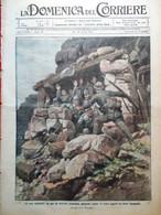 La Domenica Del Corriere 13 Agosto 1916 WW1 Asiago Cadore Sotterranei Aviazione - Guerra 1914-18