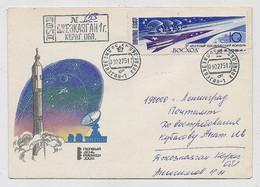 SPACE Dzhezkazgan Cover Mail USSR RUSSIA Rocket Sputnik Soyuz-17 Landing - Russia & URSS