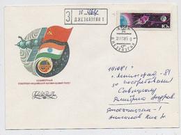 SPACE Dzhezkazgan Cover Mail USSR RUSSIA Rocket Sputnik Soyuz T-14 Landing - Russia & URSS