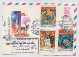 SPACE Stationery Cover Mail USSR RUSSIA Rocket Sputnik Set Stamp Baikonur Vietnam Dog - Russia & URSS